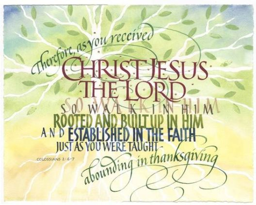 Image result for colossians 2 6-7